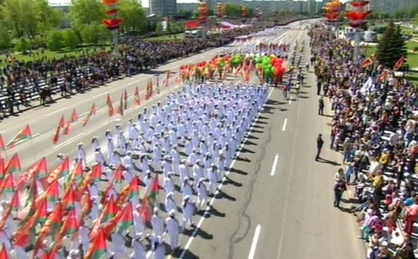 Парад в Минске 9 мая 2015: прямая трансляция, видео