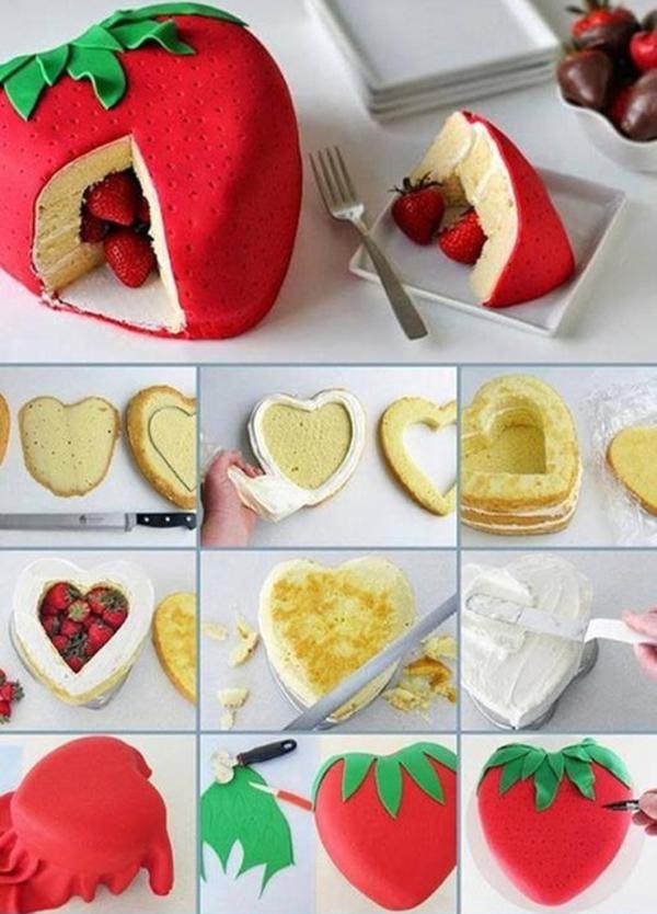 Как украсить торт клубникой: украшение торта клубникой, мастер классы, фото и видео