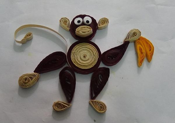Обезьяна квиллинг: как сделать обезьяну в технике квиллинг?