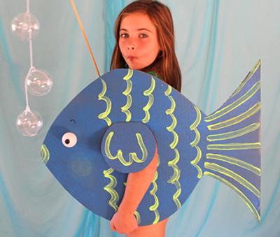 Костюмы морских обитателей своими руками: медуза, осьминог, морская звезда, ракушка, рыбка и подводная лодка