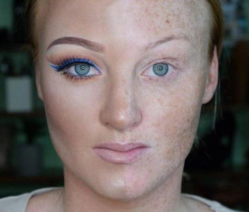 Сила макияжа: макияж на пол лица