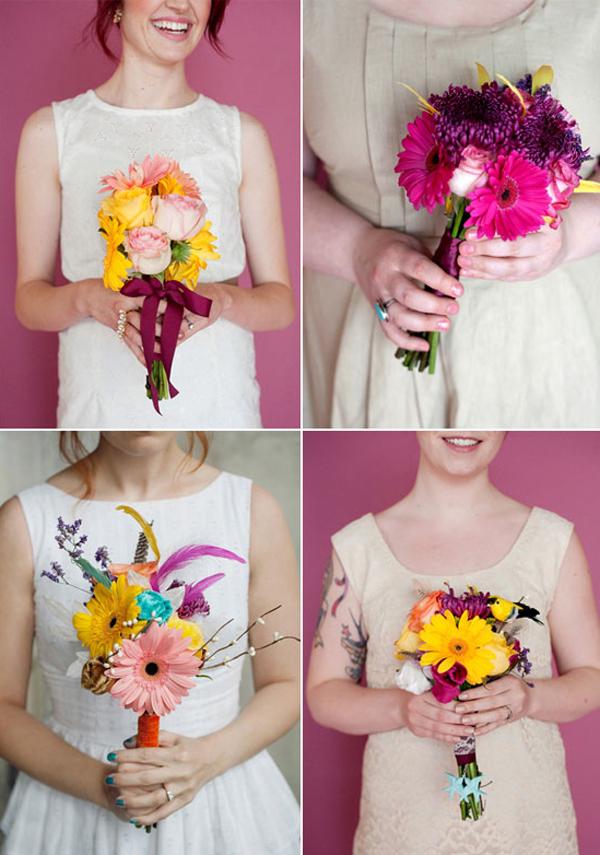Оригинальное оформить букет из цветов своими руками — 8