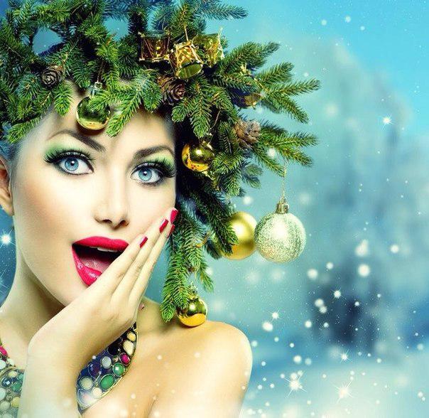 Новогодние прически для девочек. Прическа елочка