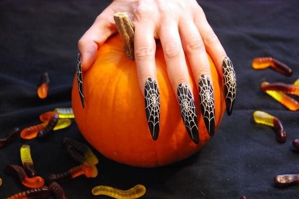 Маникюр на Хэллоуин своими руками: фото, идеи, поэтапные инструкции