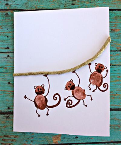 тоже открытки с обезьянами своими руками обои