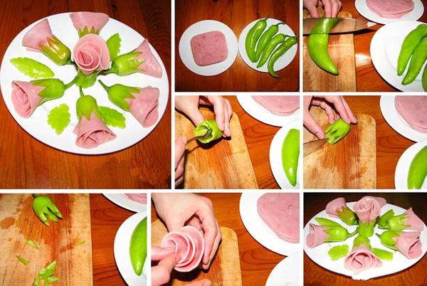 Нарезка колбасы: как красиво нарезать колбасу и оформить нарезку из вареной колбасы к праздничному столу?
