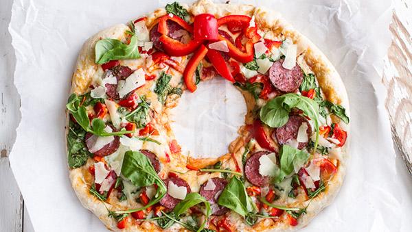 Пицца Новый год. Новогодняя пицца своими руками
