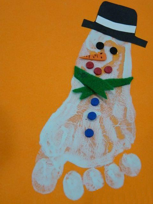Детские новогодние поделки: поделки из отпечатков рук и ног