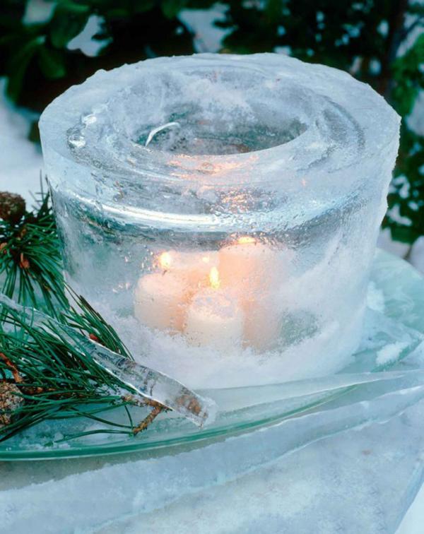 Как украсить двор к Новому году ледяными украшениями? Ледяные украшения своими руками