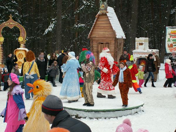 Детская железная дорога в Минске: театрализованное представление «В гости к Деду Морозу!» 2015/2016