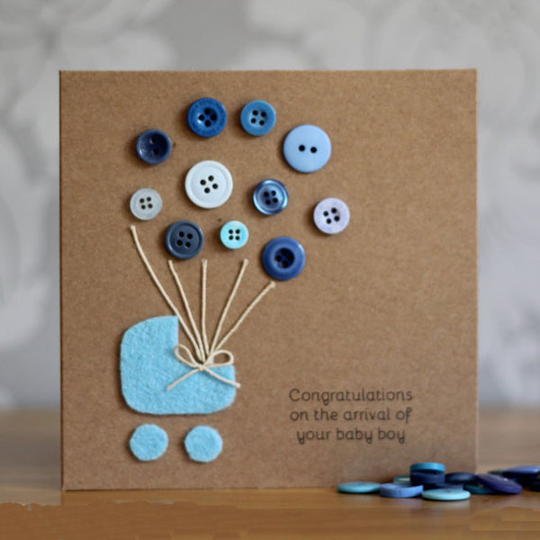 Использование пуговиц в открытках