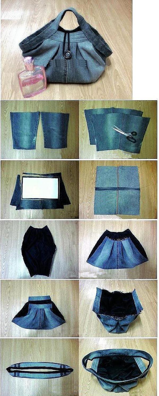 Сумка своими руками из джинс схемы