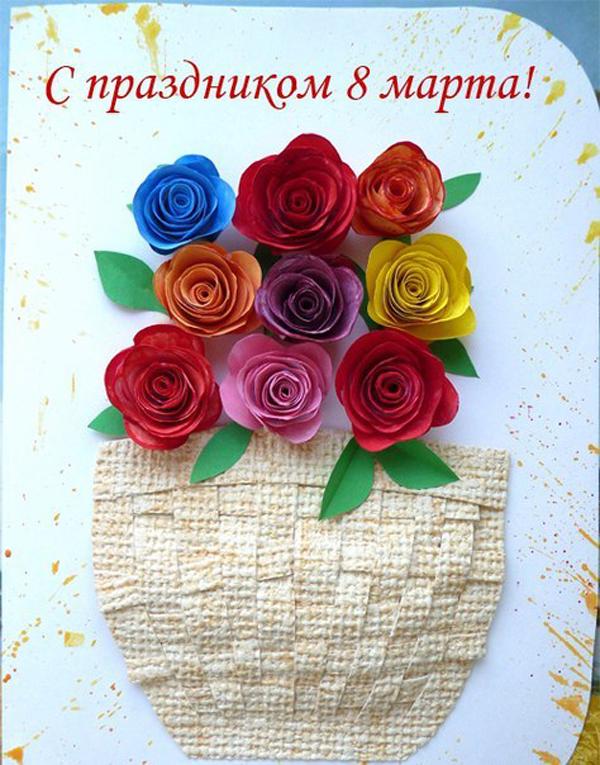 К 8 марта открытки поделки, васильевич