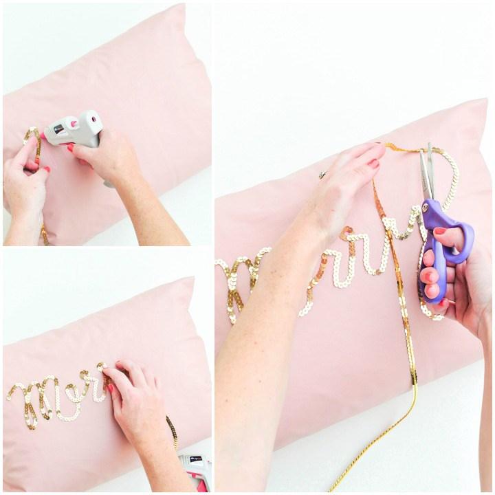 Декоративные подушки своими руками: диванные подушки с вышивкой пайетками