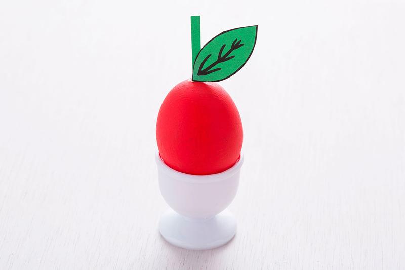 Пасхальные яйца в виде фруктов и овощей