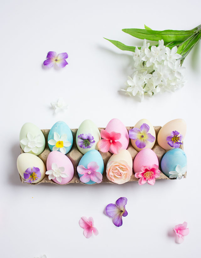 Пасхальные яйца. Пасхальные яйца с цветами