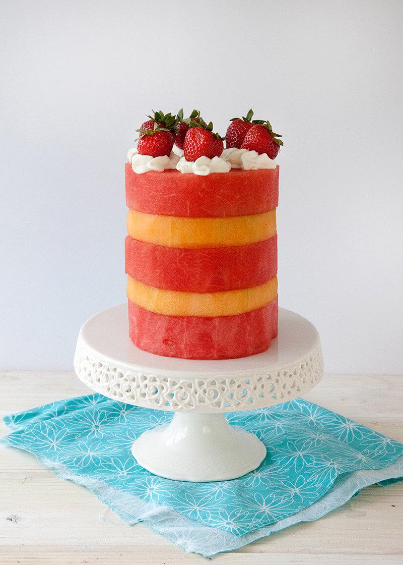 Летний торт: торт из арбуза и дыни рецепт