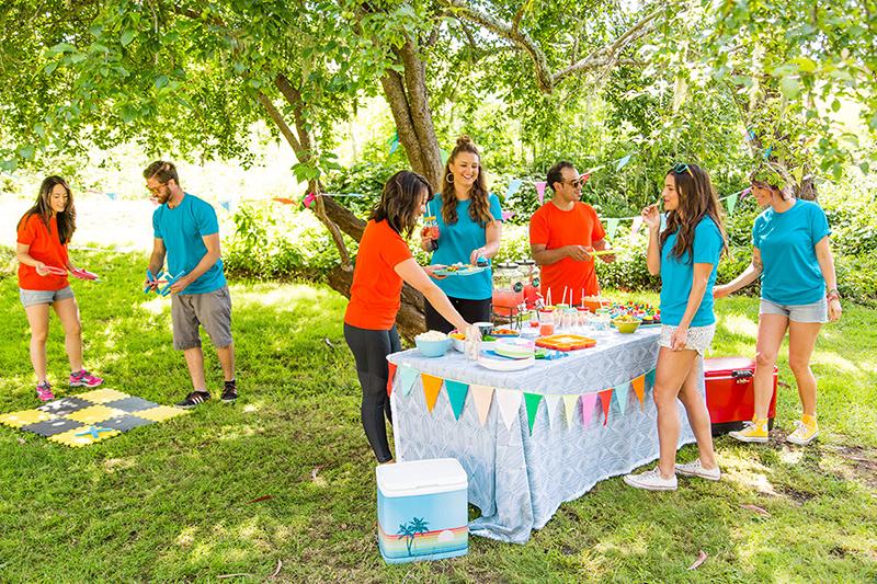 Летняя вечеринка: День Рождения на природе летом
