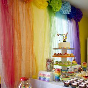 Радужная вечеринка: фото, идеи, конкурсы и меню