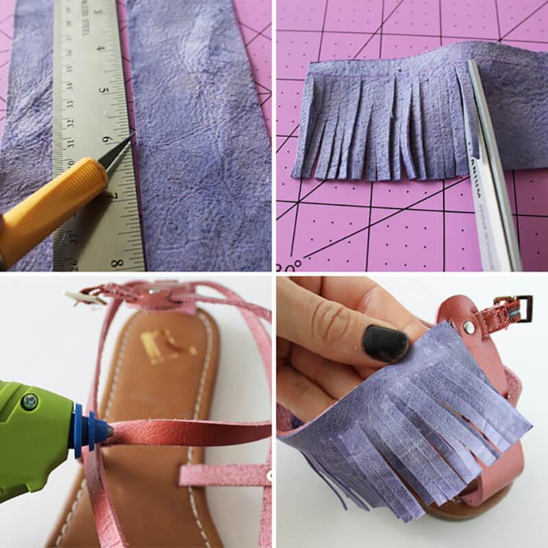 Как украсить босоножки своими руками? Как обновить старые босоножки?