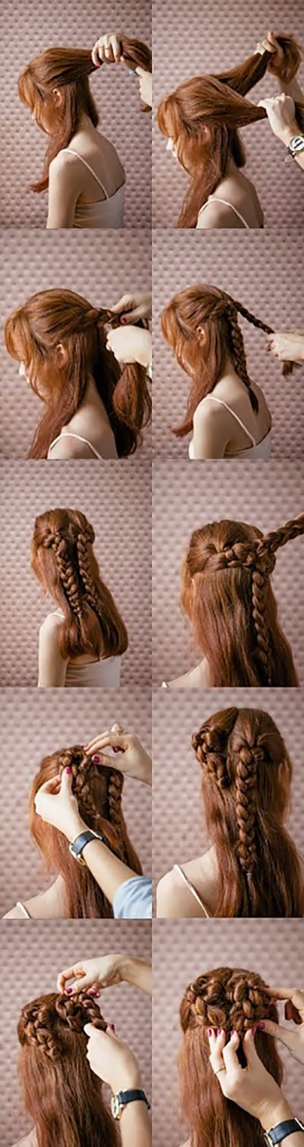 Сердце из волос: романтические прически на средние и длинные волосы
