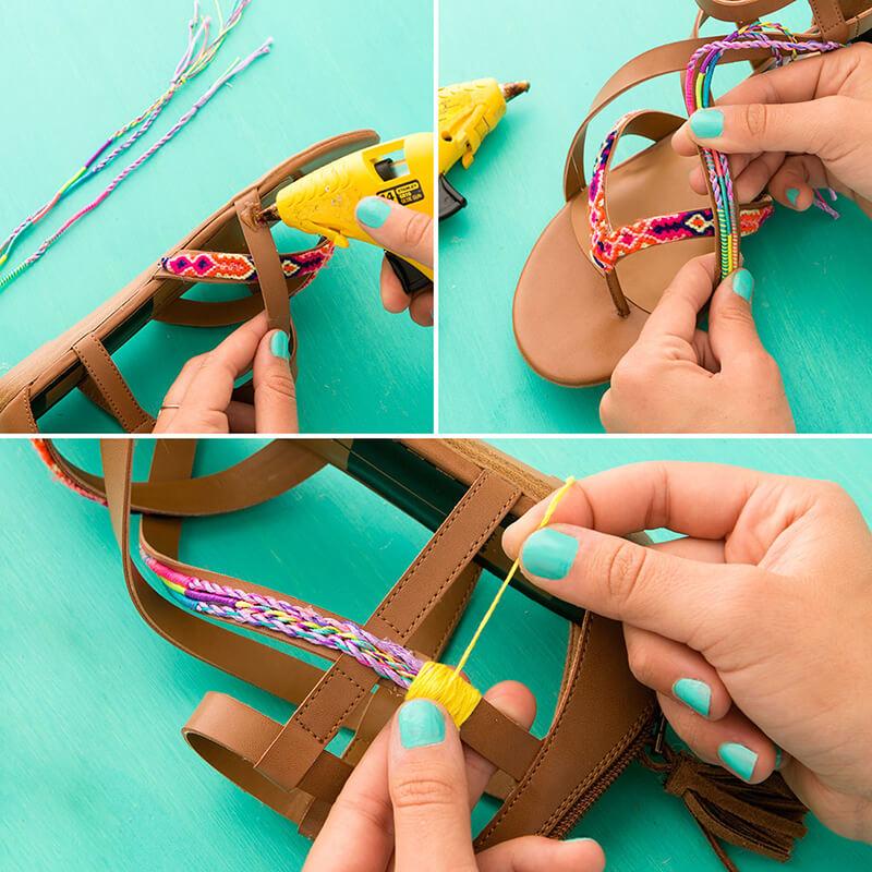 Как украсить босоножки своими руками?