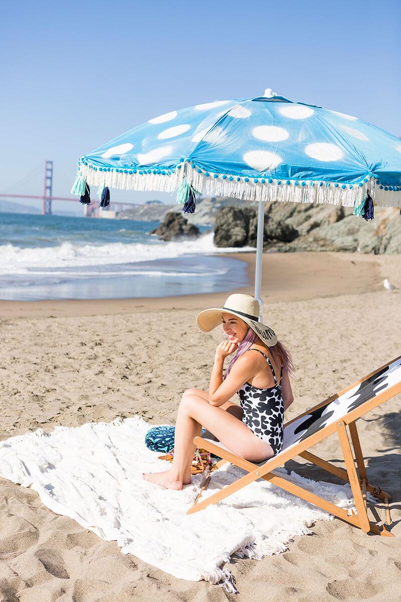Пляжный зонт: как украсить пляжный зонт своими руками?