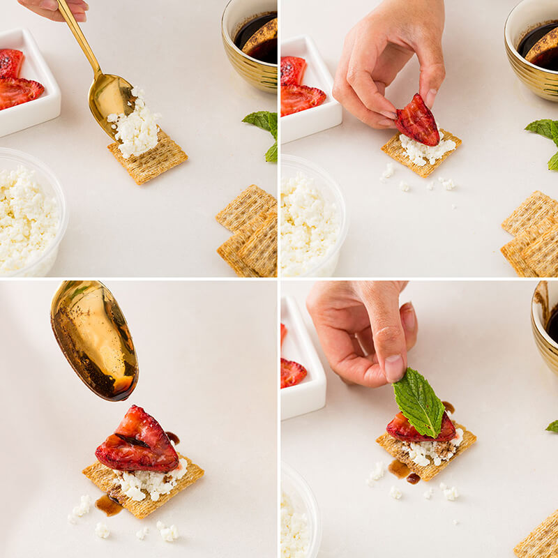 Закуска на крекерах с клубникой рецепт