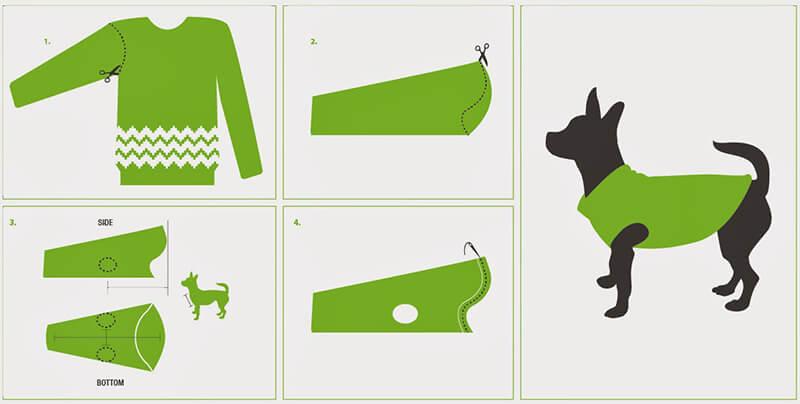 Свитер для собаки из рукава своими руками