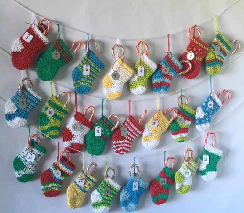 Новогодний календарь: новогодний календарь с подарками своими руками