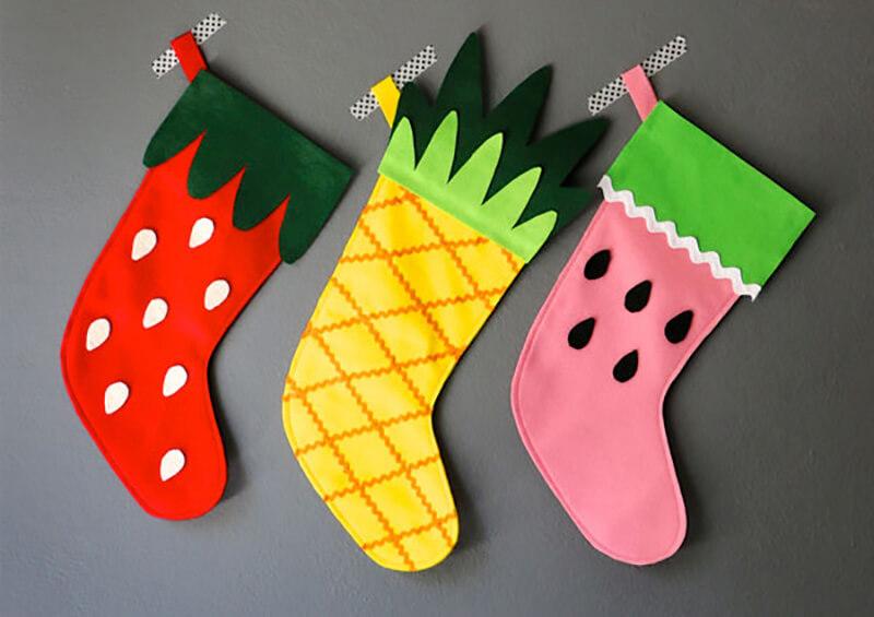 Рождественский носок своими руками: самые интересные идеи
