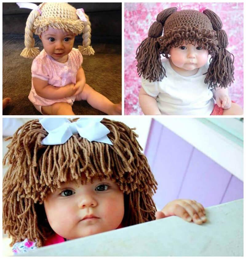 вязаные шапки для девочек идеи вязаных шапок шапки с волосами