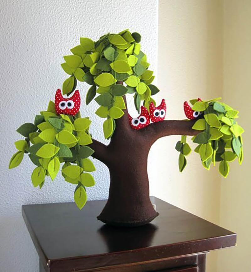 Дерево из фетра своими руками