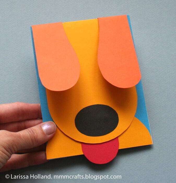 Для поздравление, открытка для собаки своими руками
