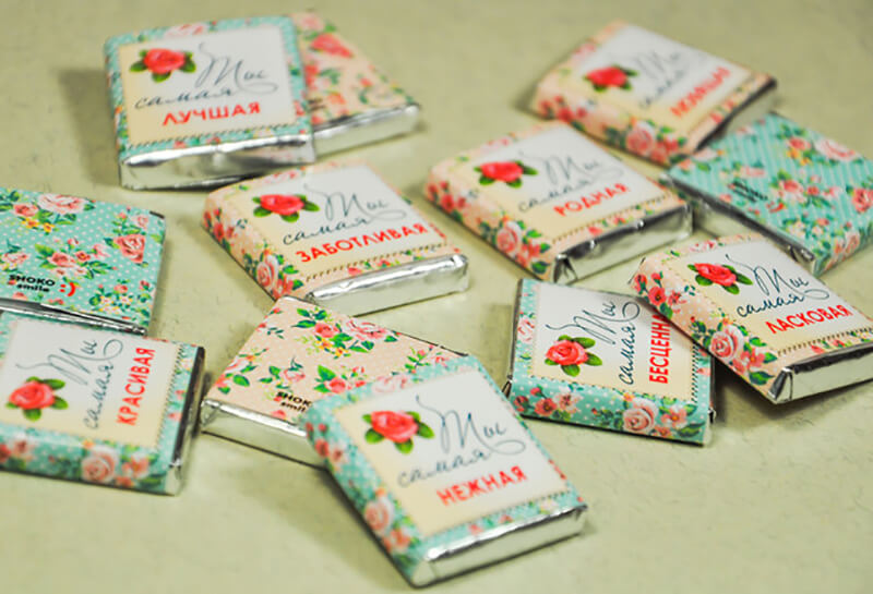 подарок маме из конфет птичье молоко