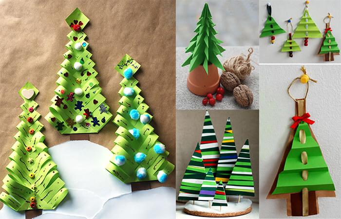 00000-1 Новогодние елки из цветной бумаги своими руками: 10 идей поделок к Новому году