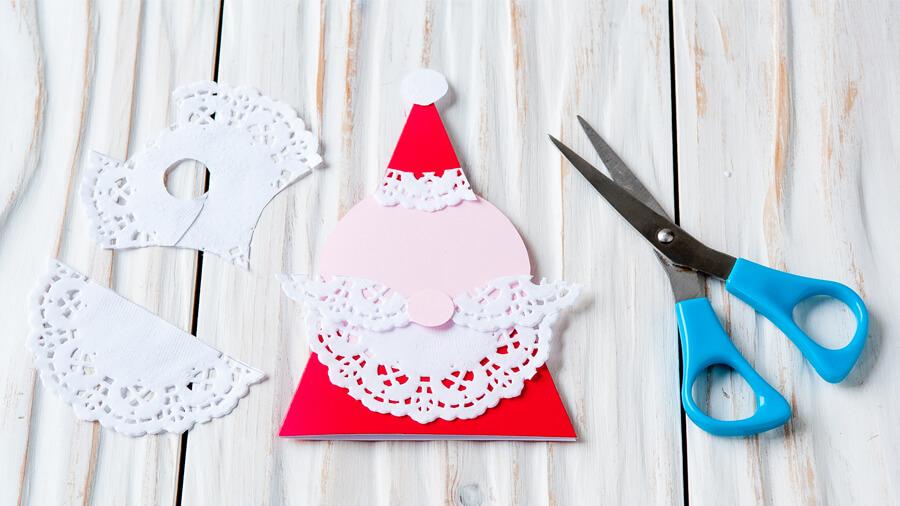 новогодние открытки из бумажных салфеток своими руками плотнее, хрустящей