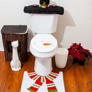 Как украсить туалет к Новому году?