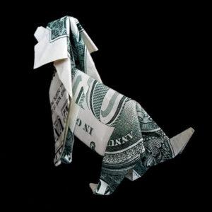 Собака доллар. Как сделать собаку из денег в технике оригами?