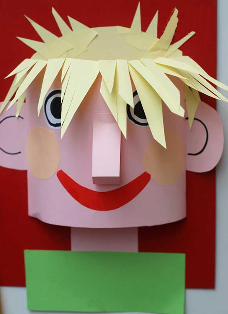 Поделка Портрет: детские аппликации