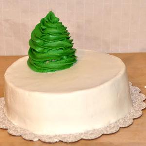 Новогодний торт Елка. Торт в виде новогодней елки