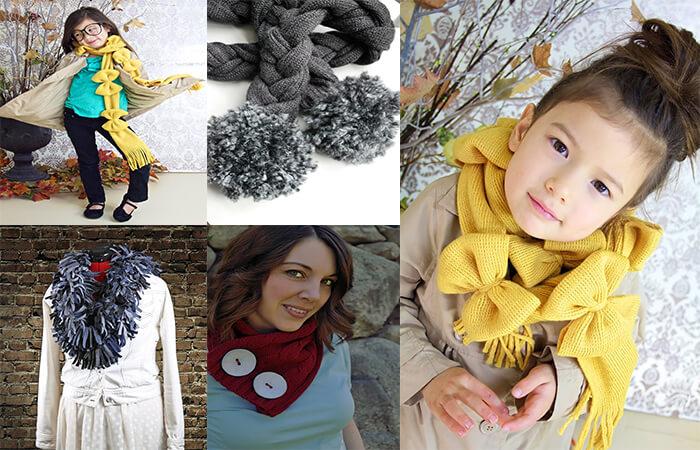 000-4 Как сшить шарф своими руками