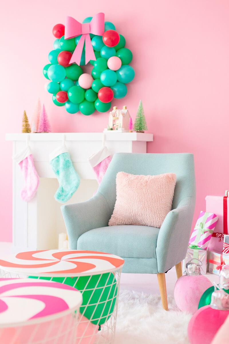 Венок из шаров. Новогодний венок из шаров – необычное новогоднее украшение интерьера