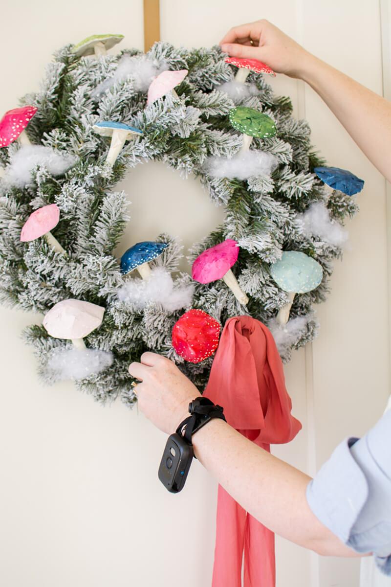 Рождественский венок своими руками. Необычный рождественский венок своими руками