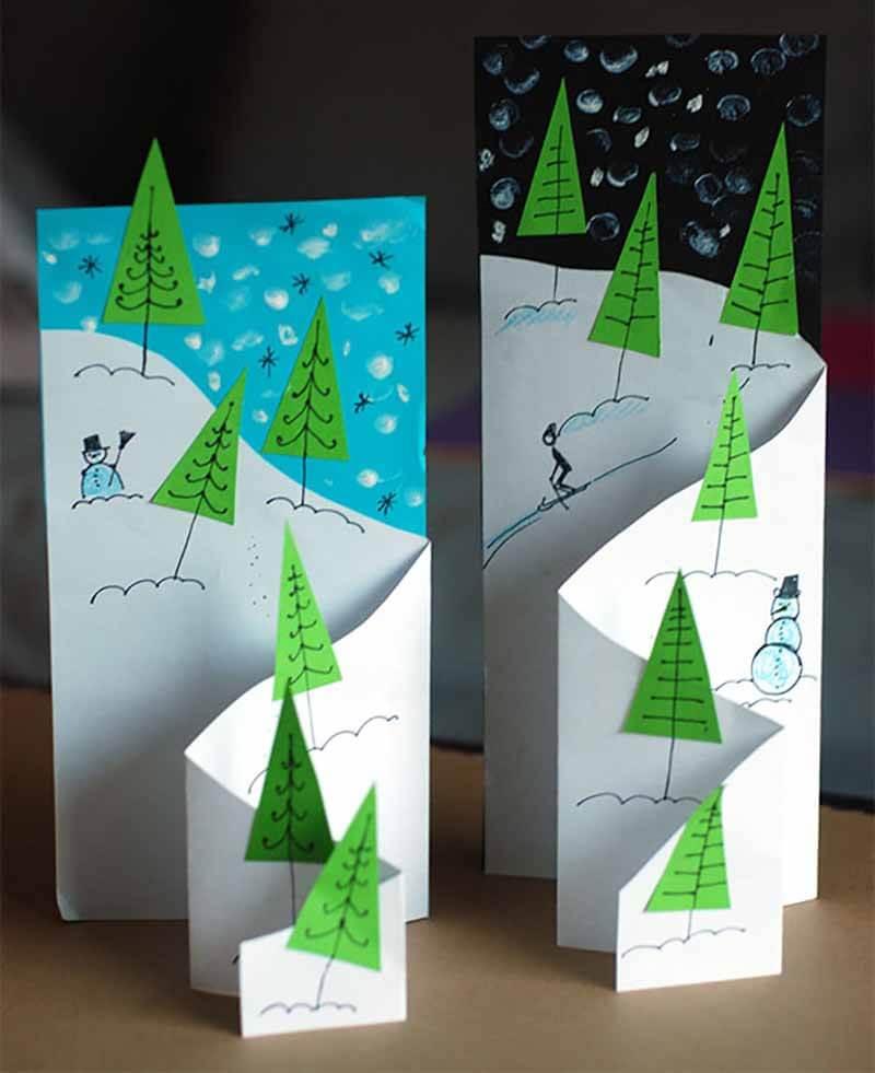 Как сделать новогоднюю открытку с детьми старшей группы