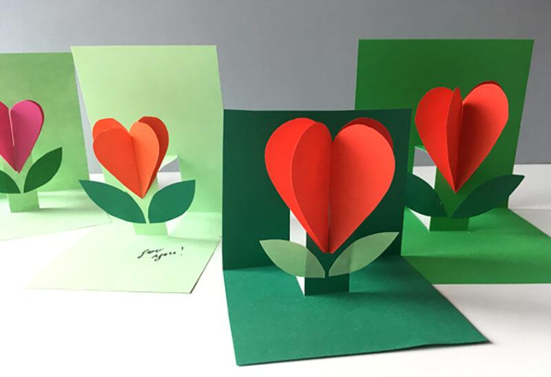 Картинки, изготовление 3д открытки к дню матери