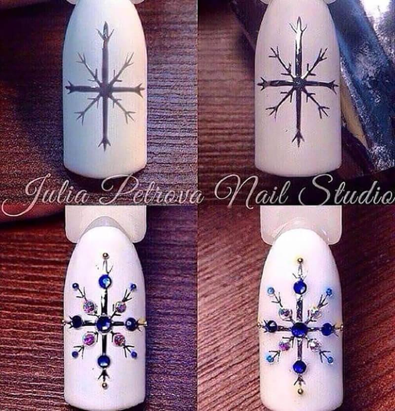 белая снежинка на ногтях пошаговое фото привыкли получать однотипные