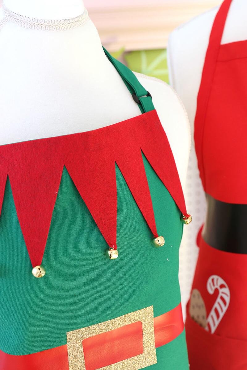 Новогодний фартук: Санта Клаус, Рождественский эльф и Снеговик