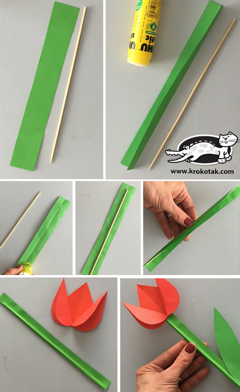 Горшок своими руками цветной бумаги