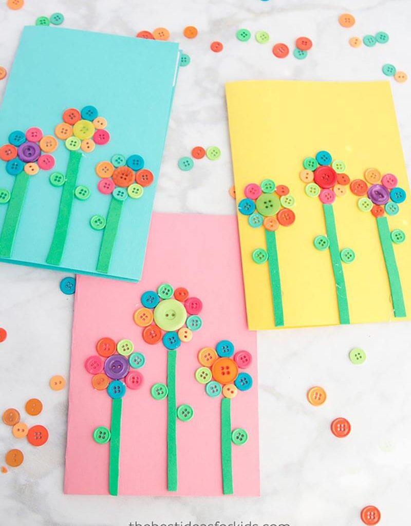 Как сделать открытку из бумаги и пуговиц своими руками?